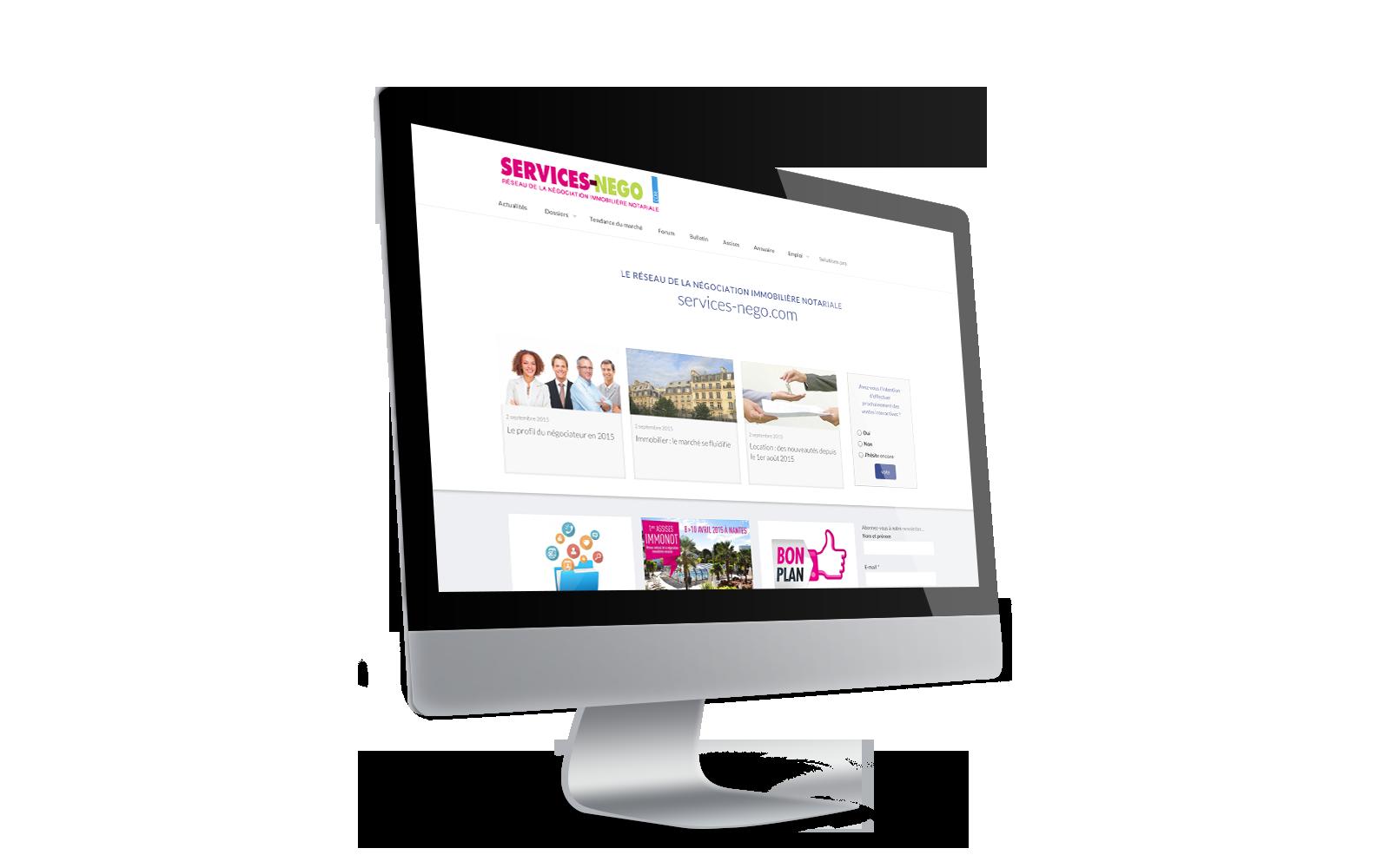 Site services-nego.com :  tout nouveau, tout beau
