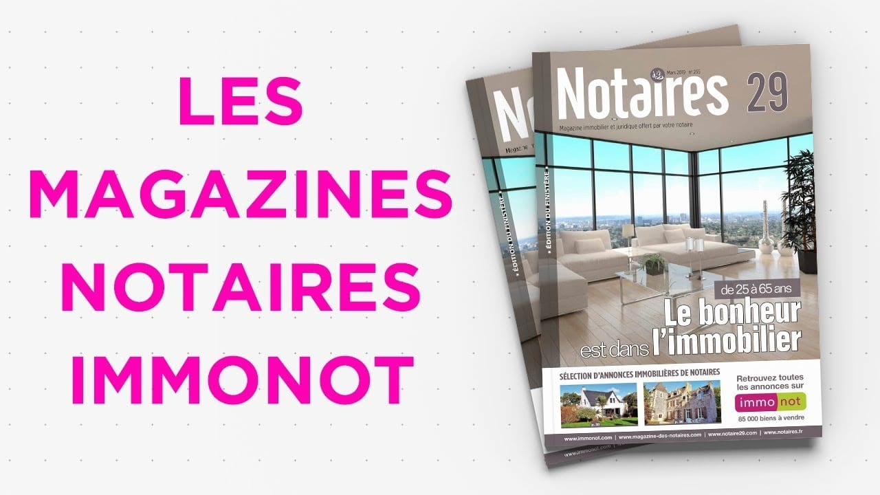 Magazines Notaires – immonot – mars 2019