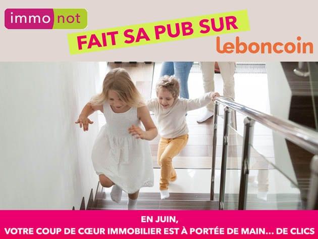 Immonot a relancé une grande campagne de communication sur le site Le Bon Coin