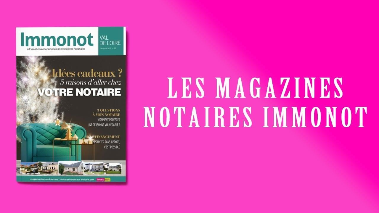 Magazines Notaires – immonot – décembre 2019