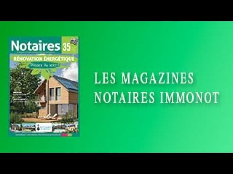 Magazines Notaires – immonot – Octobre 2020