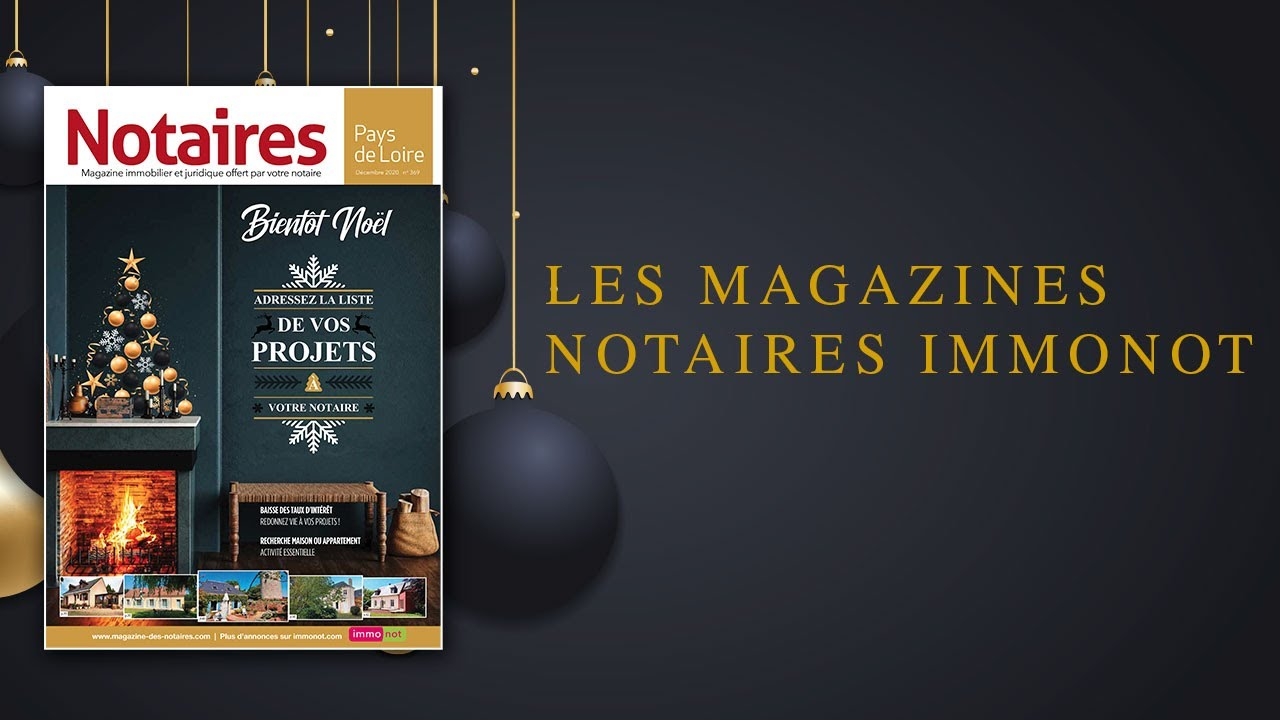 Magazines Notaires – immonot – Noël 2020