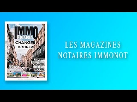 Magazines Notaires – immonot – Novembre 2020