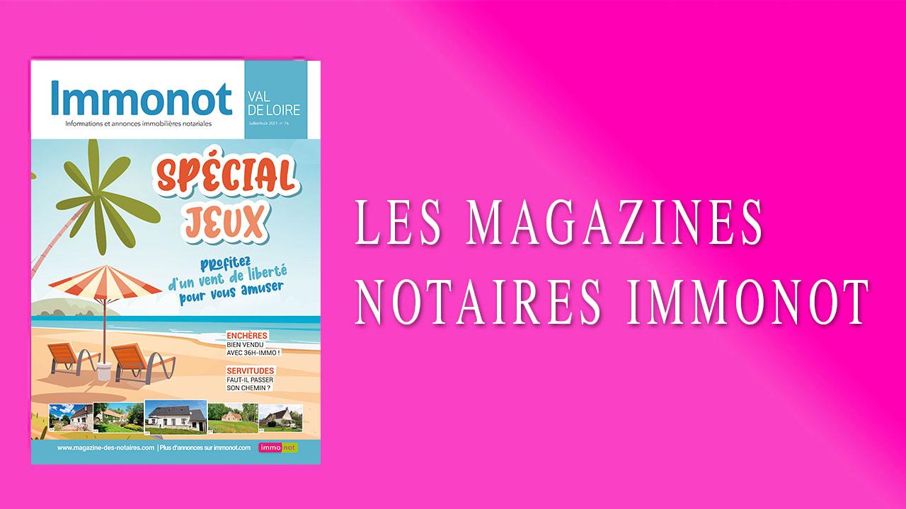 Magazines Notaires – Immonot – Juillet-Août 2021