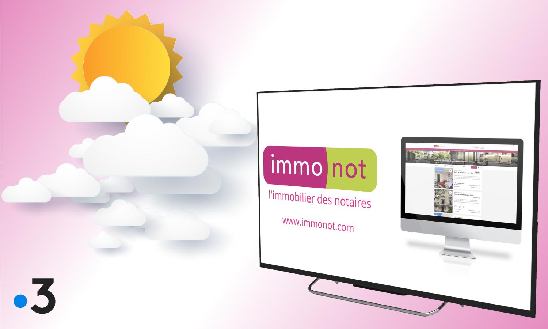 Immonot s'invite à la météo de France 3 en 2021