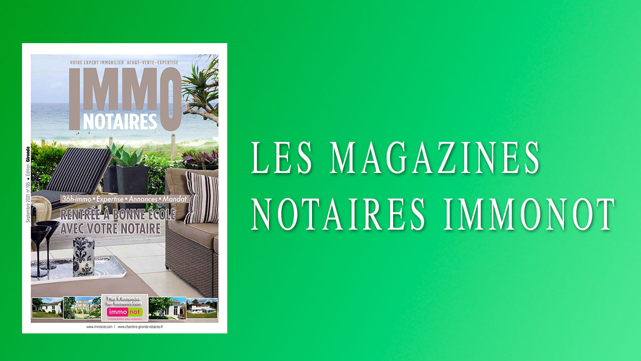 Magazines Notaires – Immonot – Septembre 2021